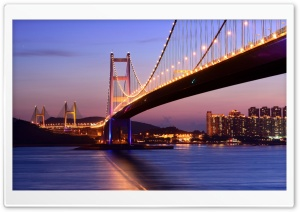Tsing Ma Bridge Hong Kong HD Wide Wallpaper for Widescreen