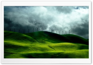 Turbines For Clean Energy HD Wide Wallpaper for Widescreen