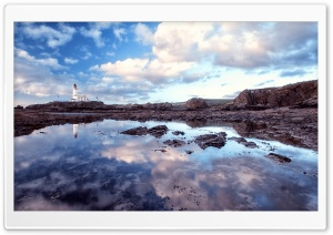 Turnberry Lighthouse In Scotland, UK HD Wide Wallpaper for Widescreen
