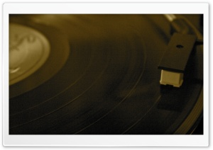 Turntable Playback HD Wide Wallpaper for Widescreen