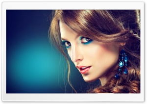 Turquoise Makeup HD Wide Wallpaper for Widescreen