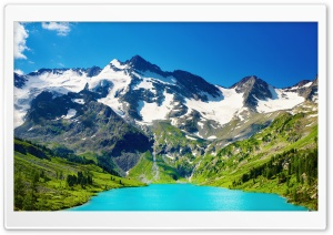 Turquoise Mountain Lake HD Wide Wallpaper for 4K UHD Widescreen desktop & smartphone