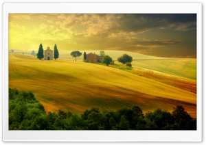 Tuscany Autumn HD Wide Wallpaper for Widescreen