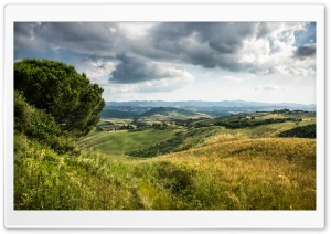 Tuscany Hills Landscape HD Wide Wallpaper for 4K UHD Widescreen desktop & smartphone