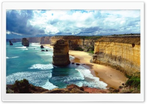 Twelve Apostles, Australia HD Wide Wallpaper for Widescreen