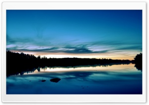 Twilight Over Lake HD Wide Wallpaper for 4K UHD Widescreen desktop & smartphone