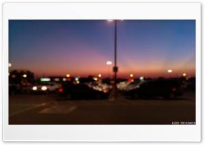 Twilight Parking Lot HD Wide Wallpaper for Widescreen