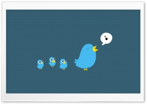 Twitter Birds Singing HD Wide Wallpaper for 4K UHD Widescreen desktop & smartphone