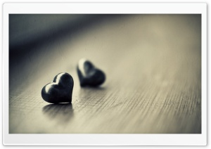 Two Black Hearts Ultra HD Wallpaper for 4K UHD Widescreen desktop, tablet & smartphone