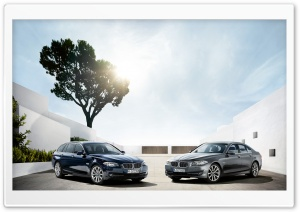 Two BMW 5 Series Touring F11 And F10 HD Wide Wallpaper for Widescreen