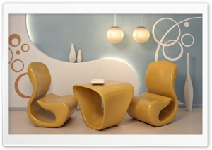 Two Chairs and a Table HD Wide Wallpaper for Widescreen