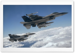 Two Fighters Over White Clouds Ultra HD Wallpaper for 4K UHD Widescreen desktop, tablet & smartphone