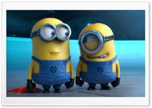 Two Minions HD Wide Wallpaper for Widescreen