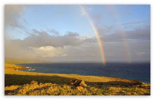 Download Two Rainbows In Maui, Hawaii UltraHD Wallpaper