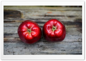 Two Red Apples HD Wide Wallpaper for Widescreen