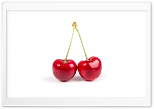 Two Red Cherries HD Wide Wallpaper for 4K UHD Widescreen desktop & smartphone
