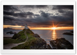 Twr Mawr Lighthouse, Ynys Llanddwyn Island Ultra HD Wallpaper for 4K UHD Widescreen desktop, tablet & smartphone