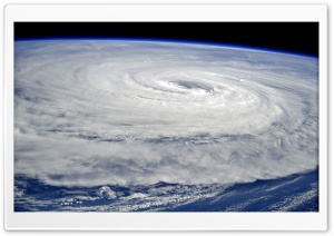 Typhoon Noru, Pacific Ocean, Earth view from Space HD Wide Wallpaper for 4K UHD Widescreen desktop & smartphone