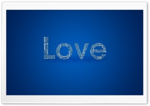 Typography Love HD Wide Wallpaper for Widescreen