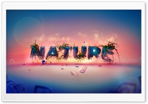 Typography of  Nature HD Wide Wallpaper for Widescreen