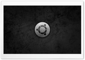 Ubuntu Metal Style Logo HD Wide Wallpaper for Widescreen