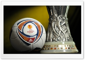 UEFA Europa League Trophy HD Wide Wallpaper for Widescreen
