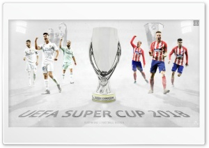 UEFA Super Cup Poster My Version HD Wide Wallpaper for 4K UHD Widescreen desktop & smartphone