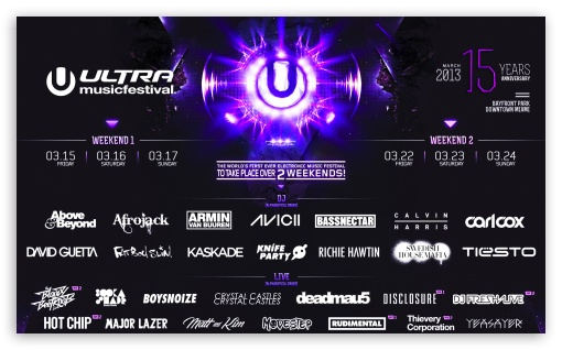 Ultra Music Festival 2013 HD wallpaper for Wide 5:3 Widescreen WGA ; HD 16:9 High Definition WQHD QWXGA 1080p 900p 720p QHD nHD ; Mobile 5:3 16:9 - WGA WQHD QWXGA 1080p 900p 720p QHD nHD ;