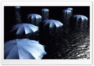 Umbrellas 3D HD Wide Wallpaper for Widescreen