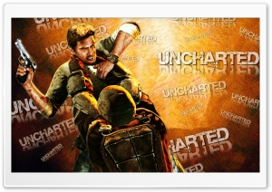 Uncharted Orange HD Wide Wallpaper for Widescreen