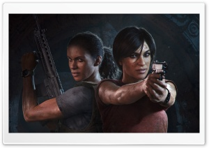 Uncharted The Lost Legacy Chloe and Nadine HD Wide Wallpaper for Widescreen