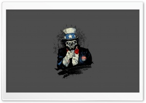 Uncle Sam Zombie HD Wide Wallpaper for Widescreen