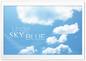 Under the Sky so Blue HD Wide Wallpaper for Widescreen