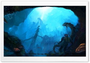 Underwater HD Wide Wallpaper for Widescreen