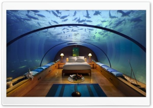 Underwater Bedroom HD Wide Wallpaper for Widescreen