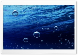 Underwater Bubbles HD Wide Wallpaper for Widescreen