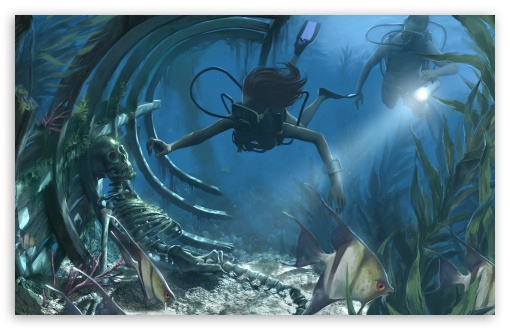 Underwater Painting ❤ 4K UHD Wallpaper for Wide 16:10 5:3 Widescreen WHXGA WQXGA WUXGA WXGA WGA ; 4K UHD 16:9 Ultra High Definition 2160p 1440p 1080p 900p 720p ; Mobile 5:3 16:9 - WGA 2160p 1440p 1080p 900p 720p ; Dual 16:10 5:3 16:9 4:3 5:4 WHXGA WQXGA WUXGA WXGA WGA 2160p 1440p 1080p 900p 720p UXGA XGA SVGA QSXGA SXGA ;