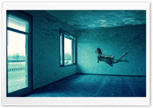 Underwater Room HD Wide Wallpaper for Widescreen