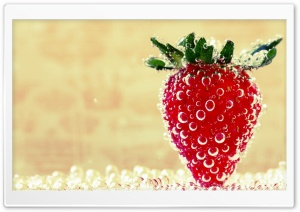 Underwater Strawberry, Macro HD Wide Wallpaper for Widescreen