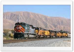 Union Pacific Heritage Locomotive 1983 HD Wide Wallpaper for Widescreen