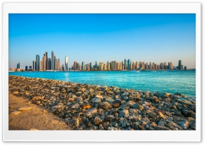 United Arab Emirates Skyscrapers HD Wide Wallpaper for 4K UHD Widescreen desktop & smartphone