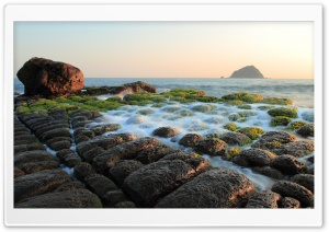 Unusual Rock Bed HD Wide Wallpaper for Widescreen