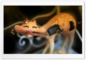 Urban Cat Art HD Wide Wallpaper for Widescreen