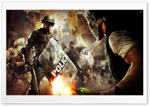 Urban Chaos Riot Response HD Wide Wallpaper for Widescreen