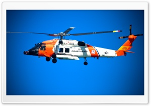 US Coast Guard Helicopter HD Wide Wallpaper for 4K UHD Widescreen desktop & smartphone