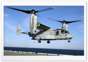 US Marine Corps V22 Osprey Helicopter Practices Touch And Go Landings On The USS Wasp HD Wide Wallpaper for Widescreen