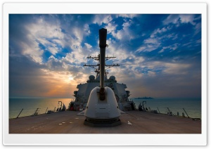 US Navy Destroyer HD Wide Wallpaper for Widescreen