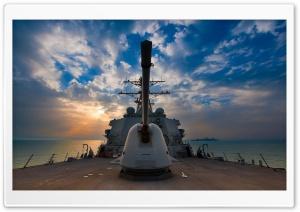 US Navy Destroyer HD Wide Wallpaper for Widescreen