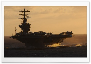 US Navys Great Green Fleet at Sunset HD Wide Wallpaper for 4K UHD Widescreen desktop & smartphone