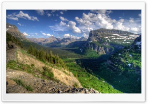 USA Glacier Mountain HD Wide Wallpaper for Widescreen